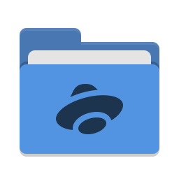 Folder blue yandex disk icon