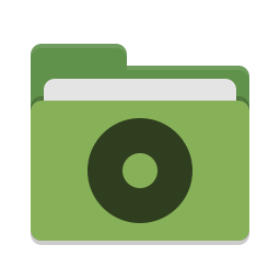 Folder green cd icon