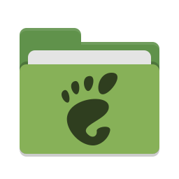 Folder green gnome icon