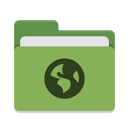 Folder green network icon