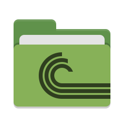 Folder green torrent icon