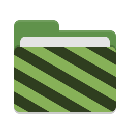 Folder green visiting icon