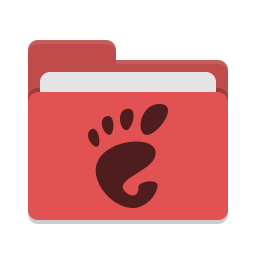 Folder red gnome icon