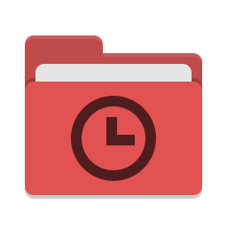 Folder red recent icon