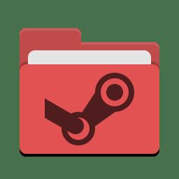 Folder red steam icon