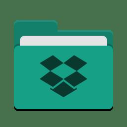 Folder teal dropbox icon