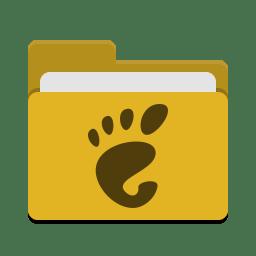 Folder yellow gnome icon