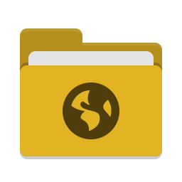 Folder yellow network icon