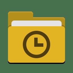 Folder yellow recent icon