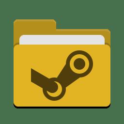 Folder yellow steam icon