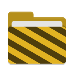 Folder yellow visiting icon