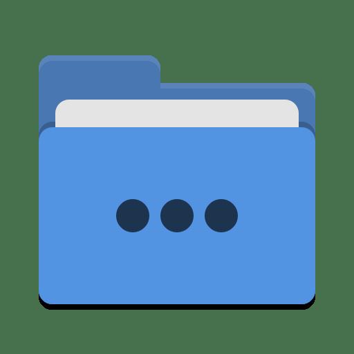 Folder-blue-activities icon