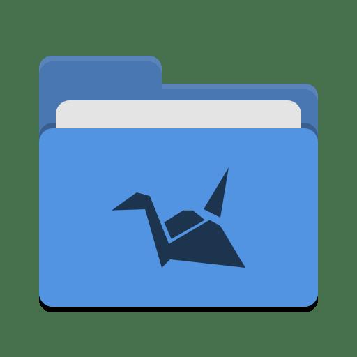 Folder-blue-copy-cloud icon