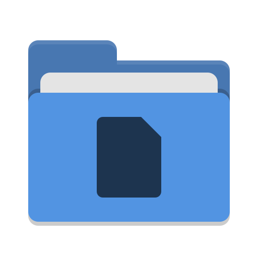 Folder-blue-documents icon