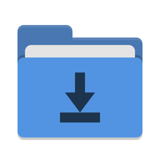 Folder-blue-download icon