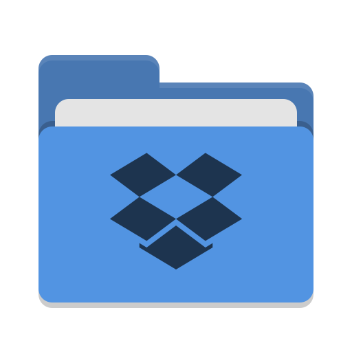 Folder blue dropbox icon