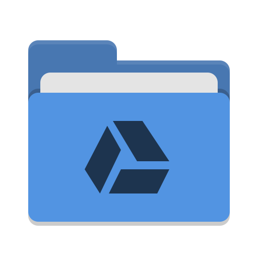 Folder-blue-google-drive icon