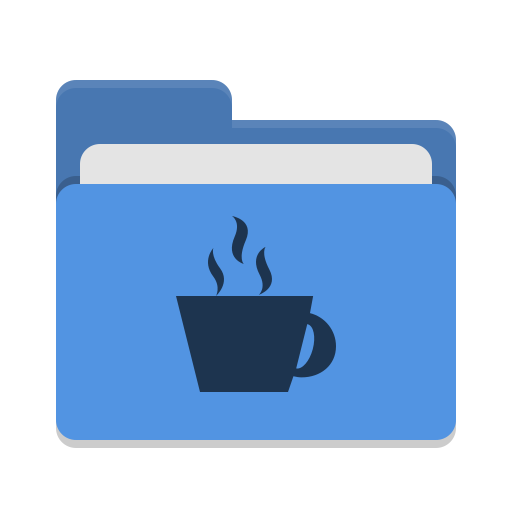 Folder blue java icon