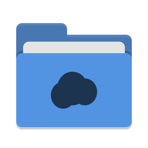 Folder blue mail cloud icon
