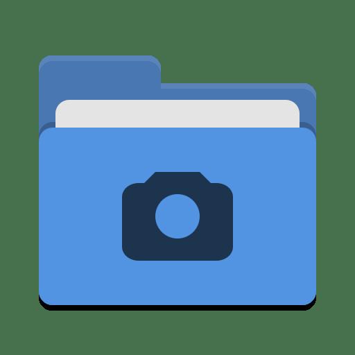 Folder-blue-photo icon