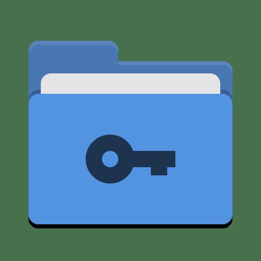 Folder-blue-private icon