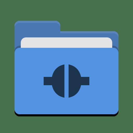 Folder-blue-remote icon