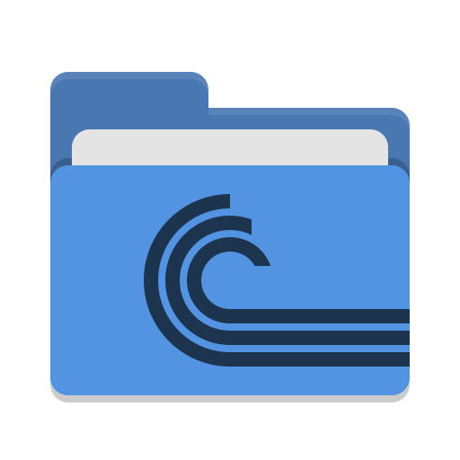 Folder-blue-torrent icon