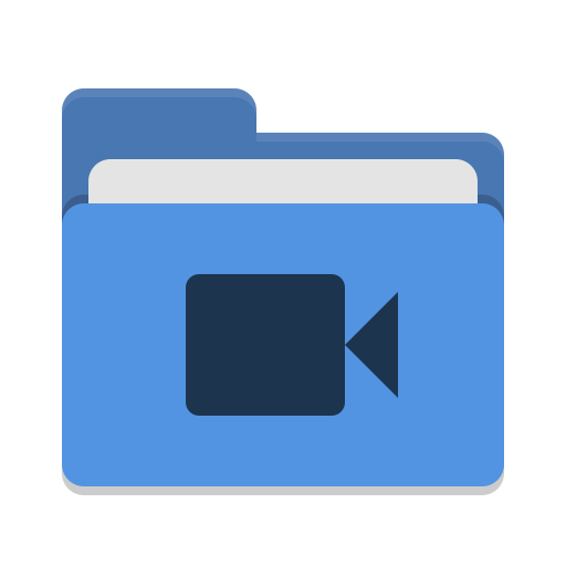 Folder-blue-video icon