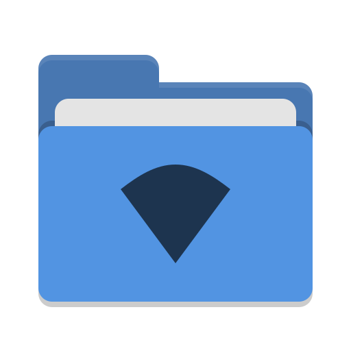 Folder blue wifi icon