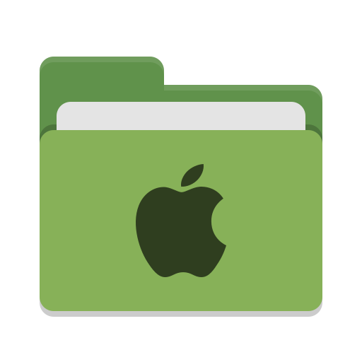 Folder green apple icon