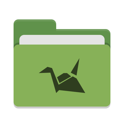 Folder green copy cloud icon