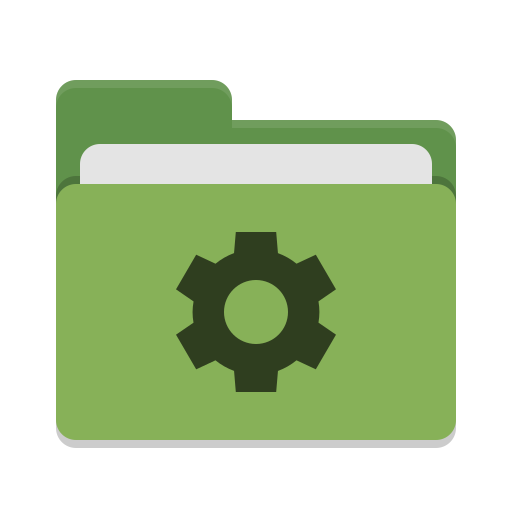 Folder green development icon