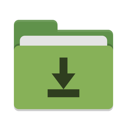 Folder green download icon