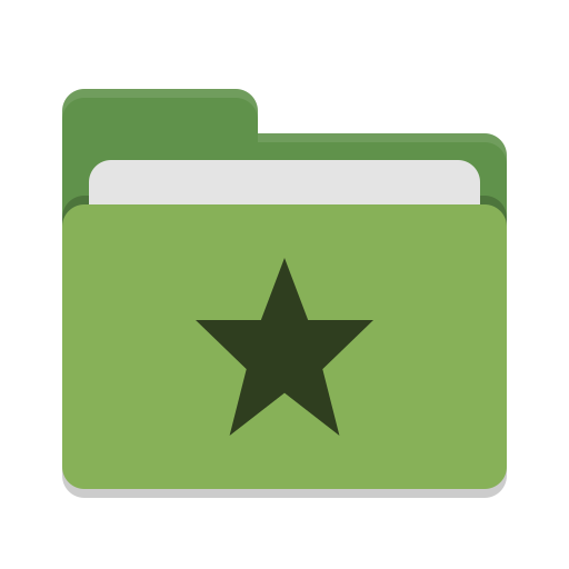 Folder green favorites icon