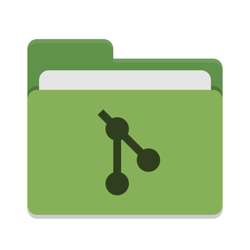 Folder green git icon