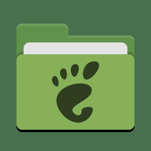 Folder green gnome icon