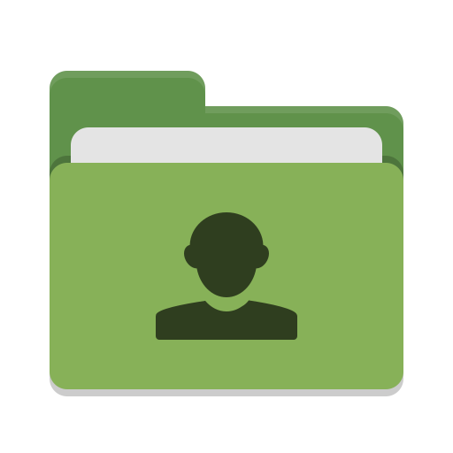 Folder green image people icon