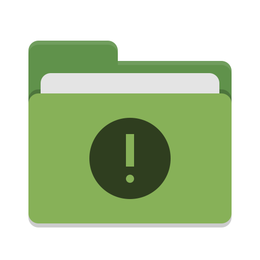 Folder-green-important icon
