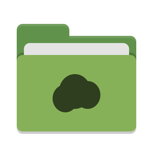 Folder green mail cloud icon