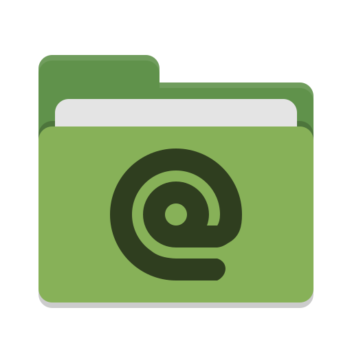 Folder green mail icon