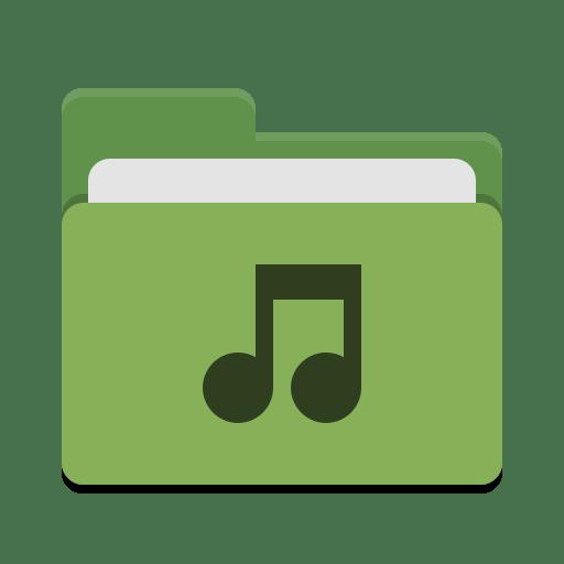Folder-green-music icon