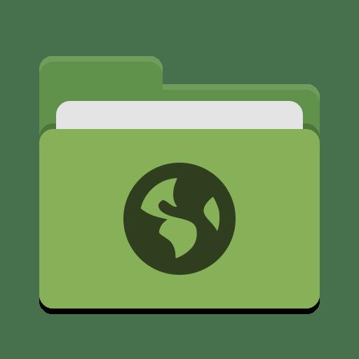 Folder-green-network icon
