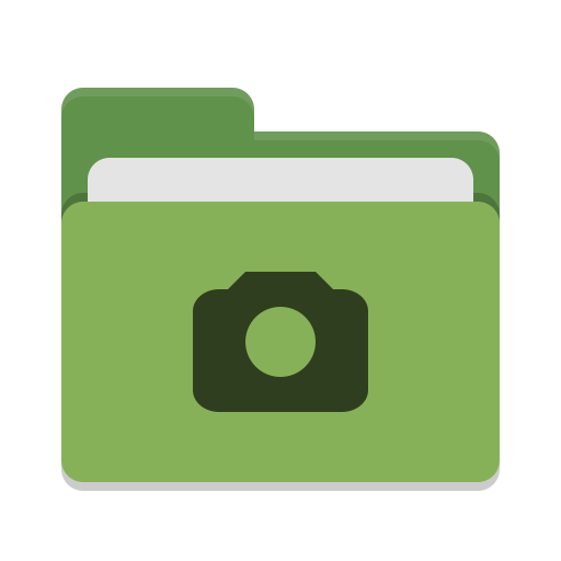 Folder green photo icon