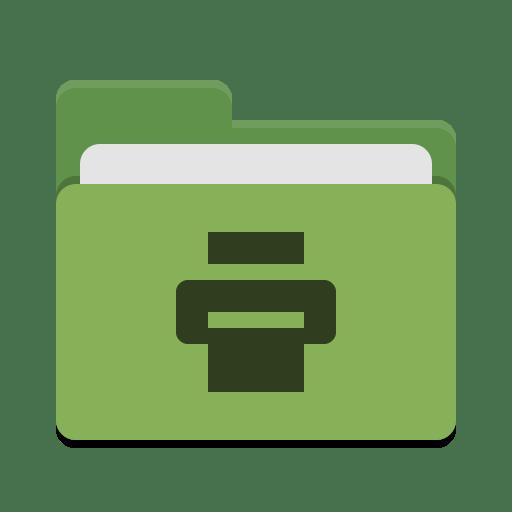 Folder-green-print icon