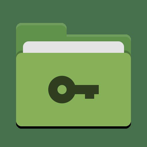 Folder green private icon
