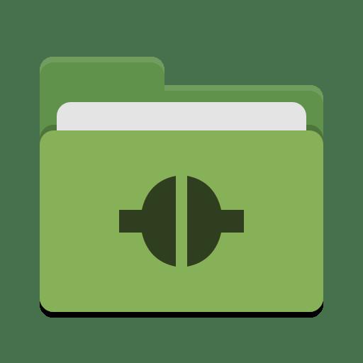 Folder green remote icon