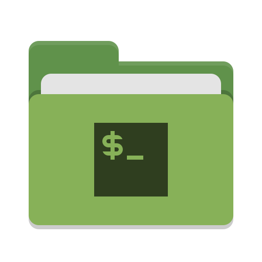 Folder green script icon