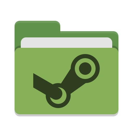 Folder-green-steam icon