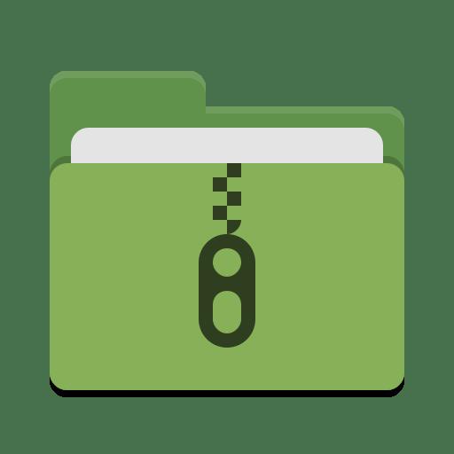 Folder-green-tar icon