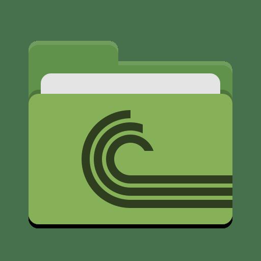 Folder-green-torrent icon